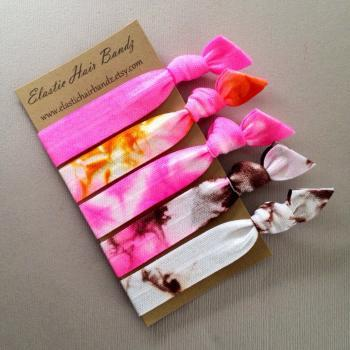 The Alexis Tie Dye Hair Tie Collection - 5 Elastic Hair Ties by Elastic Hair Bandz on Etsy